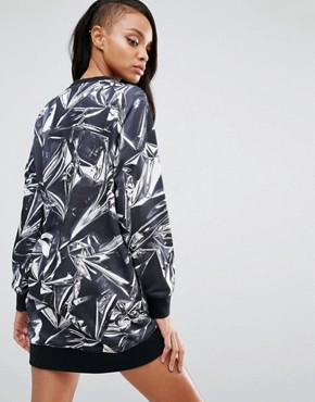photo Graphic Print Sweat Dress by Puma, color Puma White - Image 2