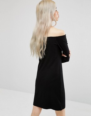 photo Off the Shoulder Dress by Weekday, color Black - Image 2