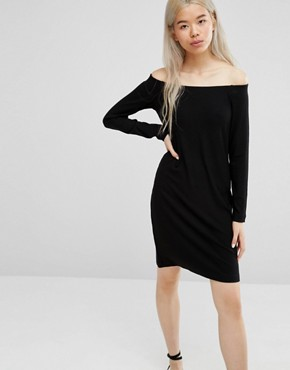 photo Off the Shoulder Dress by Weekday, color Black - Image 1