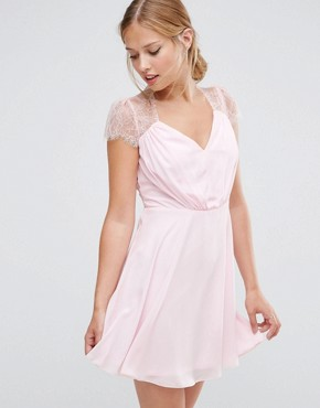 photo Mini Dress by ASOS Kate Lace, color Pink - Image 1