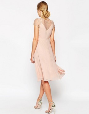 photo Midi Dress by ASOS Kate Lace, color Nude - Image 2