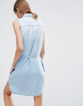 photo Olivia Denim Shirt Dress by Ditto's, color Blue - Image 2