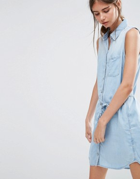 photo Olivia Denim Shirt Dress by Ditto's, color Blue - Image 1
