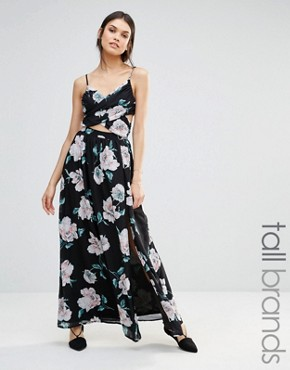 photo Floral Cross Front Maxi Dress by Missguided Tall, color  - Image 1