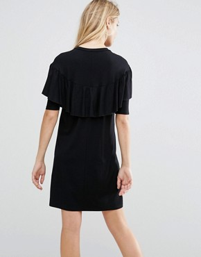 photo T Shirt Dress with Ruffle by ASOS Maternity, color Black - Image 2