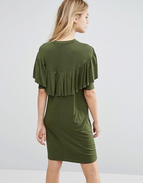 photo T Shirt Dress with Ruffle by ASOS Maternity, color Green - Image 2