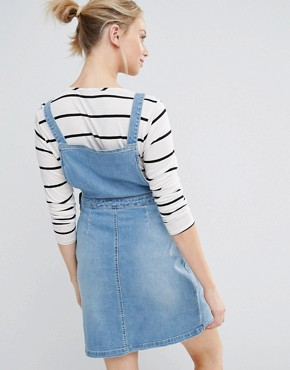 photo Denim Pinny Dress by New Look Maternity, color Blue - Image 2