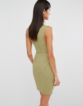 photo Sibby Cut Out Dress by AQ/AQ, color Dusky Green - Image 2