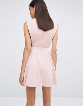 photo Sorah High Neck Mini Dress by AQ/AQ, color Dust Pink - Image 2