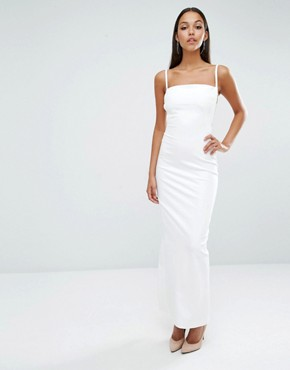 photo Maier Caged Back Maxi Dress by AQ/AQ, color Cream - Image 2