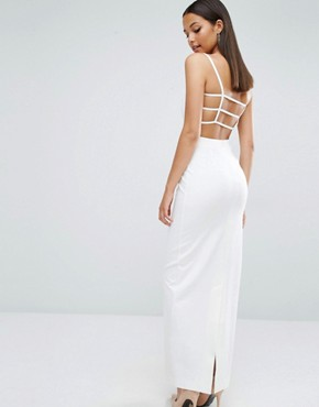photo Maier Caged Back Maxi Dress by AQ/AQ, color Cream - Image 1