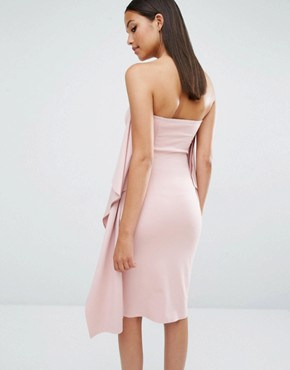 photo Ultran Knee Length Dress by AQ/AQ, color Dust Pink - Image 2