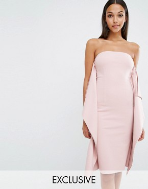 photo Ultran Knee Length Dress by AQ/AQ, color Dust Pink - Image 1