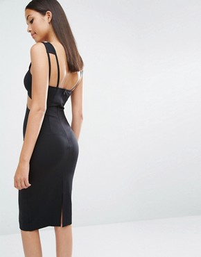photo King Cut Out Midi Dress by AQ/AQ, color Black - Image 2