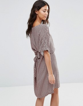 photo Junly Printed Waisted Dress by b.Young, color Blush - Image 2