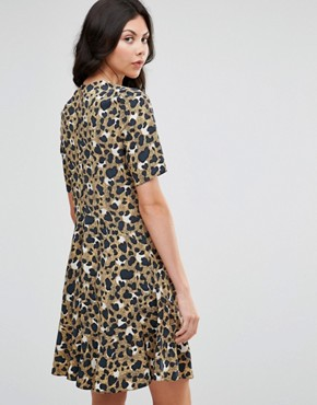 photo Drop Waist Dress In Animal Print by ASOS TALL, color  - Image 2