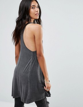 photo Happy Oversize Racer Back Swing Dress by NYTT, color Black - Image 2