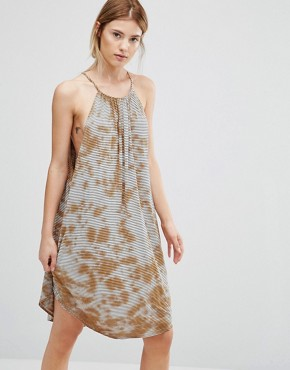 photo Halter Neck Swing Dress by NYTT, color Rusty Tie Dye - Image 1