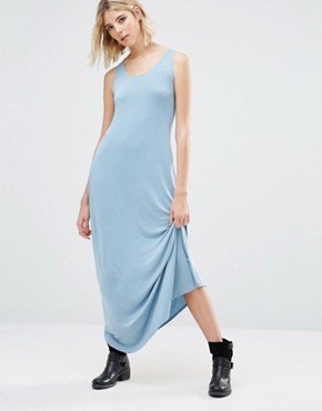 photo Anala Twist Back Maxi Dress by NYTT, color Light Chambray - Image 2