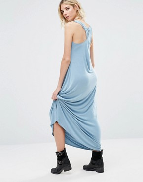 photo Anala Twist Back Maxi Dress by NYTT, color Light Chambray - Image 1