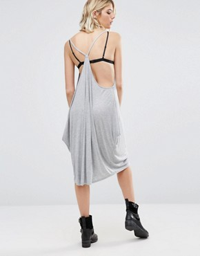 photo Jancy Cami Dress with Draped Sides by NYTT, color Heather Grey - Image 2
