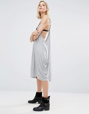 photo Jancy Cami Dress with Draped Sides by NYTT, color Heather Grey - Image 1