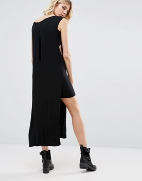 photo Leela Layered Maxi Dress by NYTT, color Black - Image 2