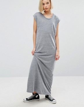 photo Nita Aline Maxi Dress by NYTT, color Heather Grey - Image 1