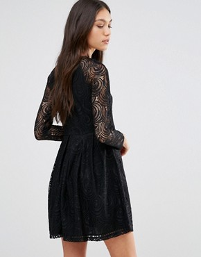 photo Because Sometimes You Should Supreme Dress In Lace by Traffic People, color Black - Image 2