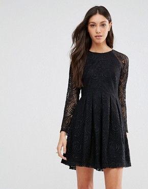 photo Because Sometimes You Should Supreme Dress In Lace by Traffic People, color Black - Image 1