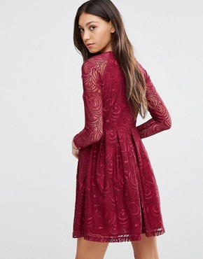 photo Supreme Dress In Lace by Traffic People, color Berry - Image 2