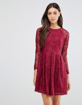 photo Supreme Dress In Lace by Traffic People, color Berry - Image 1