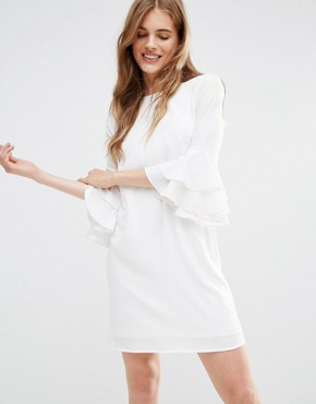 photo Mia Molls Dress With Frill Sleeves by Traffic People, color White - Image 1