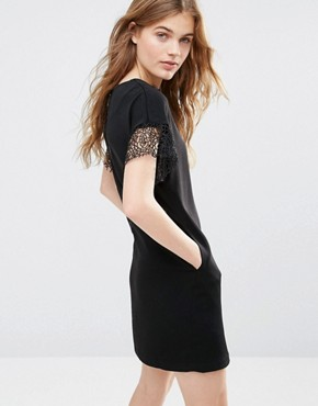 photo Miss Marple Hind Dress with Lace Trim by Traffic People, color Black - Image 2