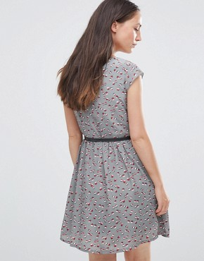 photo Dress with Ruffle Side by Jasmine, color Grey - Image 2