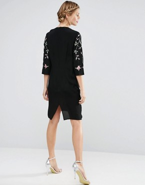 photo Embroidered Shift Dress by ASOS Maternity, color Black - Image 2
