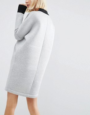 photo Cross Front Sweater Dress by ASOS WHITE, color Grey - Image 2