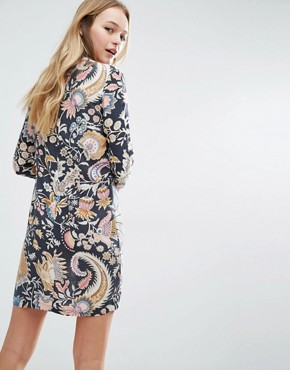 photo Printed High Neck Dress by Rollas, color Desert Floral - Image 2