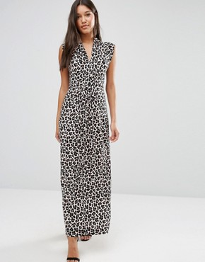 photo Maxi Dress in Aninal Print by French Connection, color Cream - Image 1
