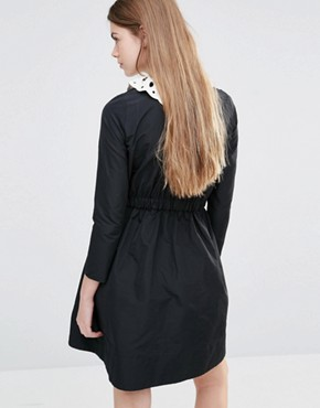 photo Dress with De-tachable Collar by Vanessa Bruno Athe, color Black - Image 2