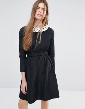 photo Dress with De-tachable Collar by Vanessa Bruno Athe, color Black - Image 1