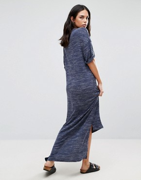 photo High-Low Oversize Maxi Dress by NYTT, color Navy - Image 2