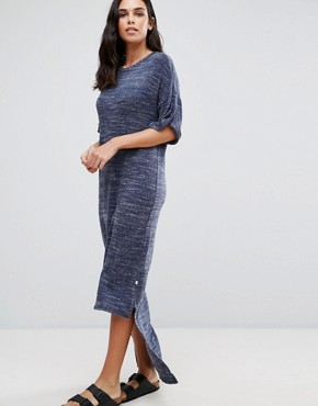 photo High-Low Oversize Maxi Dress by NYTT, color Navy - Image 1
