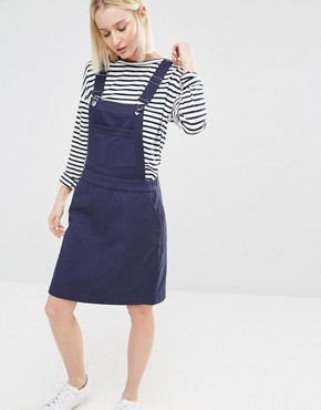 photo Dungaree A-line Dress by ADPT, color Navy - Image 1