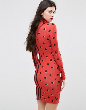 photo Squiggle Jersey Mini Dress by House of Holland, color Red - Image 2