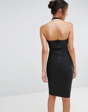 photo Harness Choker Bodycon Dress by Missguided, color Black - Image 2