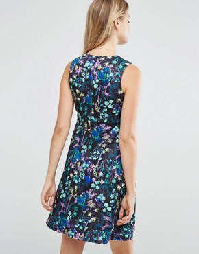 photo Scuba Skater Dress in Digital Floral by ASOS Maternity, color  - Image 2