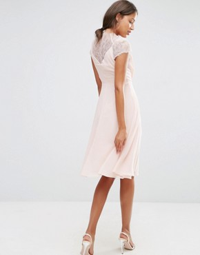 photo Midi Dress by ASOS TALL Kate Lace, color Nude - Image 2