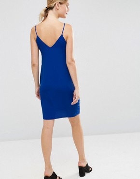 photo Cami Slip Dress by New Look Maternity, color Blue - Image 2