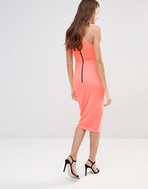 photo Midi Pencil Dress with Lace Front by Hedonia, color Neon - Image 2